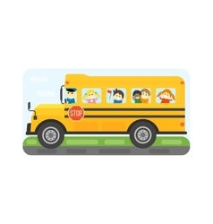 School bus isolated vector