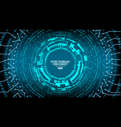 abstract futuristic technological background vector image