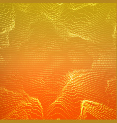 Abstract orange point mesh vector