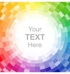 Abstract pixelated color wheel background vector image vector image