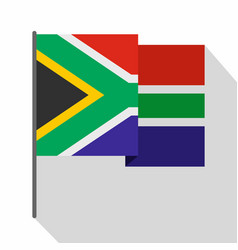 african flag icon flat style vector image