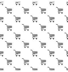 Basket on wheels pattern simple style vector