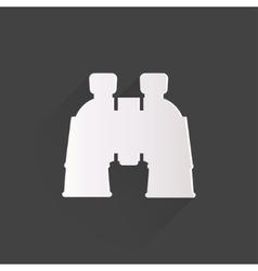 Binocular icon symbol vector