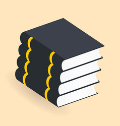books stack icons isolated pictogram for your vector image vector image