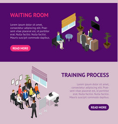 Business training or coaching service banner vector