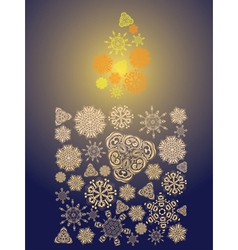 Candle made of snowflakes6 vector