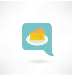 cheese on a plate icon vector image