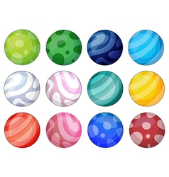 Colorful balls vector image