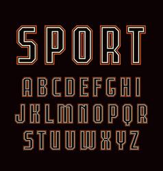 Contour sanserif font in sport style vector