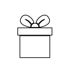 gift box present vector image vector image