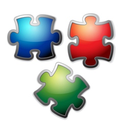 glossy puzzle vector image vector image
