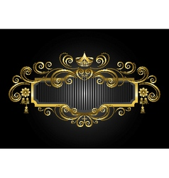 Gold frame in the with crown and candelabras vector image vector image
