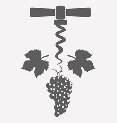 grape and corkscrew vector image vector image