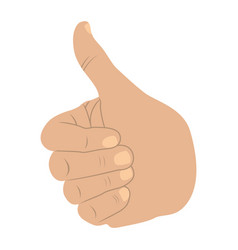 hand all good light skin icon vector image