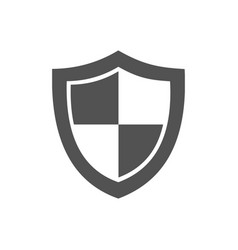 high security shield icon on a white background vector image vector image