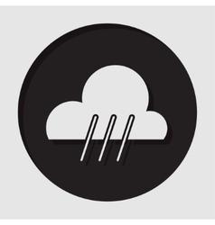 information icon - rainy symbol vector image vector image