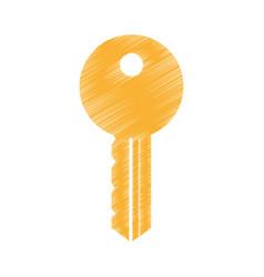 Key door isolated icon vector