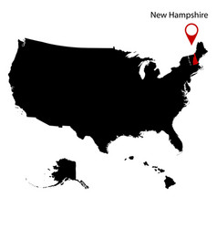 Map of the us state of new hampshire vector
