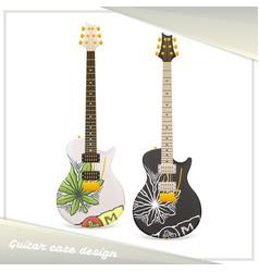 medical marijuana guitar two vector image vector image