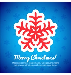Merry Christmas Card with Snowflake vector image vector image