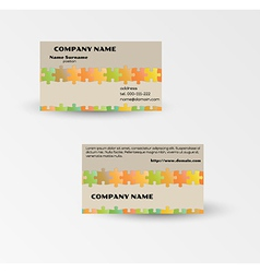 modern puzzle business card template vector image vector image