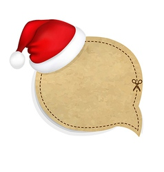 Old banner with cap of santa claus vector