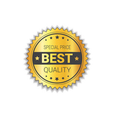 premium product label golden shield seal isolated vector image