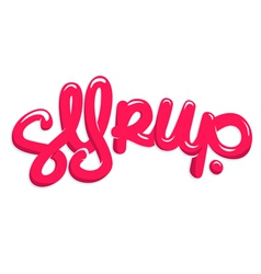 Syrup text vector