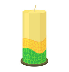 thick decorative candle icon cartoon style vector image vector image