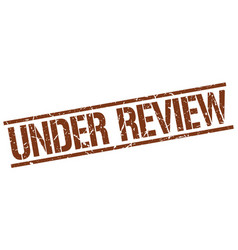 Under review stamp vector