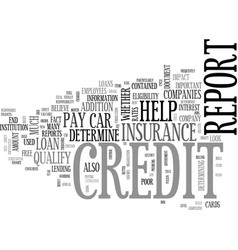 what you need to know about your credit report vector image