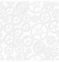 White color clockwork seamless pattern vector
