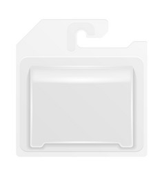 white product package box blister with hang slot vector image