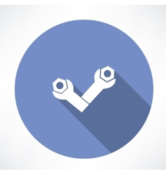Wrenches and bolts icon icon vector