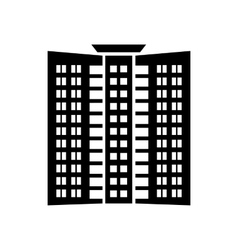 Office building icon simple style vector