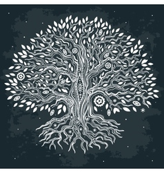Beautiful vintage hand drawn tree of life vector image