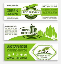 Ecology banner template for green business design vector