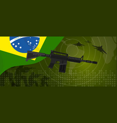 Brazil military power army defense industry war vector