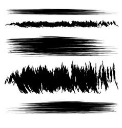 Set black smears vector