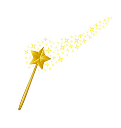 Magic wand with stars vector