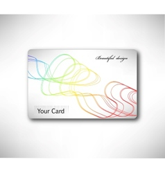 Abstract gift card with colorful curve vector