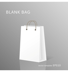 Blank shopping bag vector image