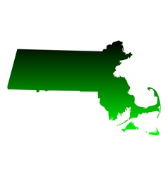 Map of massachusetts vector