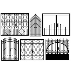 Set of different gates vector image