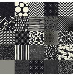 25 seamless different patterns vector image vector image