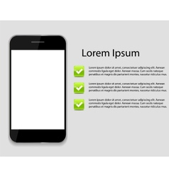 Infographic phone templates for business vector