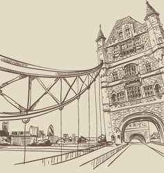 London bridge drawing vector