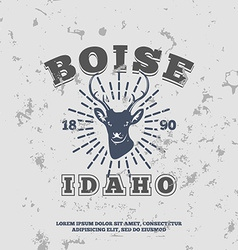 Boise idaho grunge effect on separate layer vector