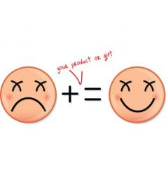 happy and sad faces icons vector image