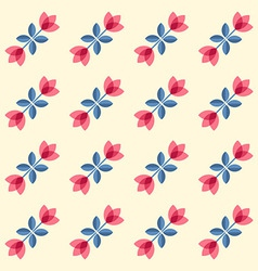 Scandinavian flowers - semaless tulips pattern vector